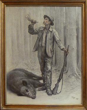 Le peintre Frederic Rouge (1867 - 1950)